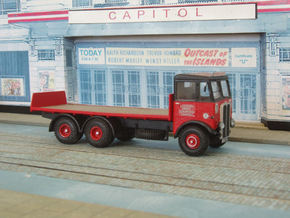 1:43 AEC c 1934 Mammoth Major  Cab & 6Whl Chassis in White Strong & Flexible Polished