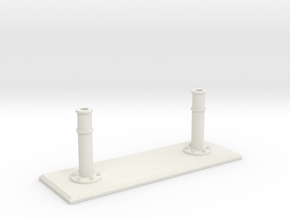 Rails base small in White Natural Versatile Plastic