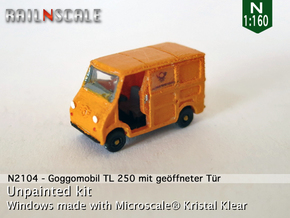 Goggomobil TL w/ opened door (N 1:160) in Smooth Fine Detail Plastic