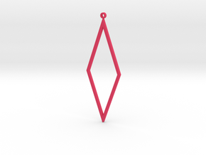 Rhombus Earrings in Pink Strong & Flexible Polished