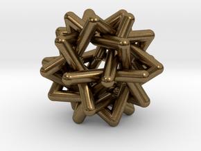 Six Tangled Stars in Natural Bronze