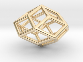 Rhombic Icosahedron Pendant in 14k Gold Plated Brass