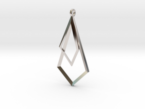 Trig Earrings in Rhodium Plated Brass