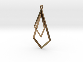 Trig Earrings in Natural Brass