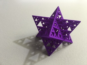 Sierpinski Octostar 3.75cm in Purple Strong & Flexible Polished