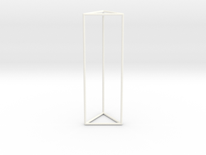 Columna Laterata Triangula Vacua in White Strong & Flexible Polished