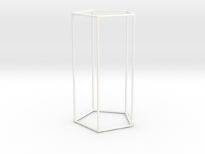 Columna Laterata Pentagona Vacua in White Strong & Flexible Polished