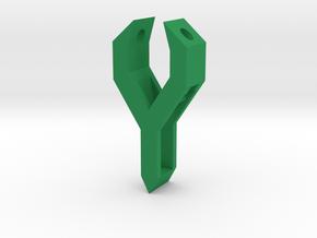 South Africa Springbok Flag Pendant: Part 1/11 in Green Processed Versatile Plastic