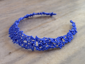 Necklace P in Blue Processed Versatile Plastic