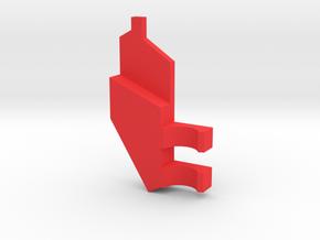 South Africa Springbok Flag Pendant: Part 7/11 in Red Processed Versatile Plastic