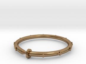 Cross Nail Bracelet in Natural Brass