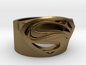 Superman Ring - Man Of Steel Ring US12 in Natural Bronze