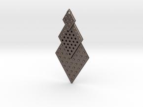 Post Earrings in Polished Bronzed Silver Steel