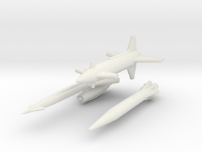 Rascal, Hound Dog, Skybolt missiles 1/285 6mm in White Strong & Flexible