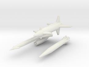 Rascal, Hound Dog, Skybolt missiles 1/285 6mm in White Natural Versatile Plastic