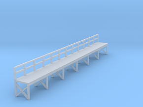 N Scale Train Maintenance Platform in Smooth Fine Detail Plastic