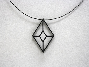 Cut-Off Diamond in Black Natural Versatile Plastic