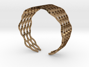 Mesh Bracelet - Small in Natural Brass
