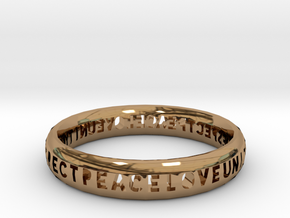 PLUR bangle in Polished Brass