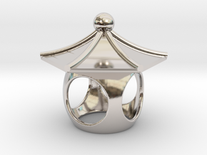 Spirit House - Curious in Rhodium Plated Brass