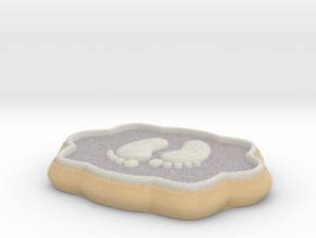 Baby Shower Decorations - Baby Footprints in Full Color Sandstone