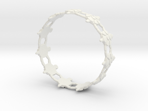 Turtles Bracelet in White Natural Versatile Plastic