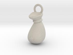 Sack Pendant in Natural Sandstone