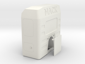 Sleeper-cab-closed-rear-wall in White Natural Versatile Plastic