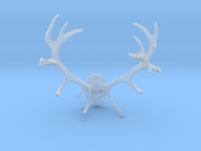 Red Deer Antler Mount 40mm in Smooth Fine Detail Plastic