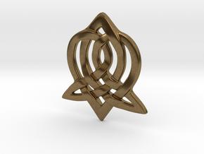 Celtic Sister Pendant in Natural Bronze