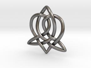Celtic Sister Pendant - Tube Version in Polished Nickel Steel