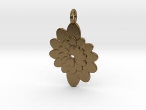 Spiral Flower 1 in Natural Bronze