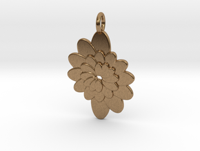 Spiral Flower 1 in Natural Brass