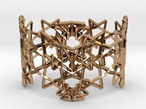 Deco Pattern Cuff in Polished Brass