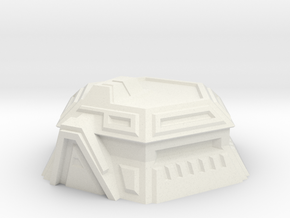 Sci-Fi Bunker in White Natural Versatile Plastic