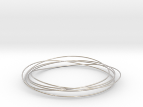 Mobius Wire Bracelet in Rhodium Plated Brass