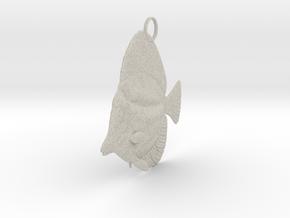 Fish Pendant in Natural Sandstone