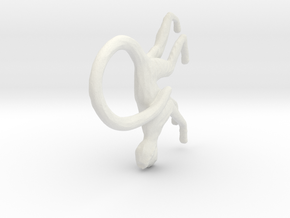 Monkey Pendant in White Natural Versatile Plastic