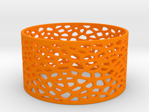 Voronoi Bracelet 78mm in Orange Strong & Flexible Polished