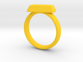 Gold Bar Ring in Yellow Processed Versatile Plastic: 5 / 49