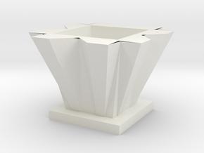 Vase 4 in White Natural Versatile Plastic
