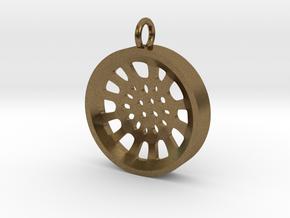 """High Tenor """"void"""" steelpan pendant, S in Natural Bronze"""