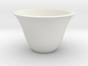 Japanse Sake-cup  in White Natural Versatile Plastic