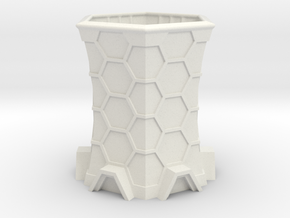 Sci-Fi Cooling Tower in White Natural Versatile Plastic