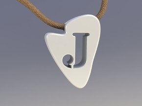 J Tooth Necklace in White Natural Versatile Plastic