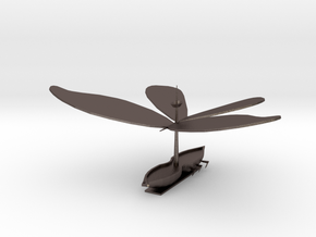 Boaterfly (Plain) in Polished Bronzed Silver Steel