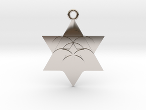 Star Seed Pendant in Rhodium Plated Brass