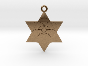 Star Seed Pendant in Natural Brass