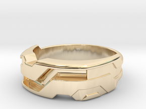 US14 Ring XXI: Tritium (Silver) in 14k Gold Plated Brass