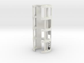 GCM114-01-CF - CF8 / PC3.5 + 18650  in White Natural Versatile Plastic